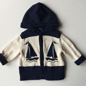 Baby Gap Beach Sailing Sweater * 6-12M